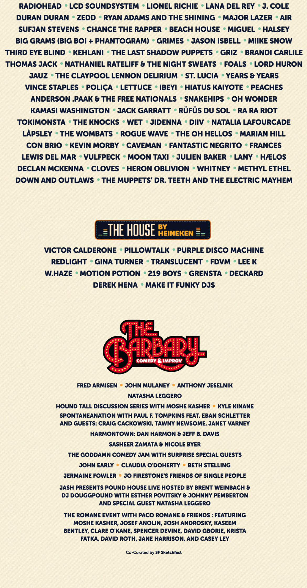 San Francisco's Outside Lands festival lineup… you have to see this!!!